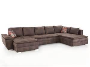 u form sofa wohnlandschaft braun 395x210 u form schlafsofa sofa