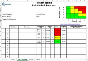 Risk Management Mba Project Pdf by Risk Management Template Risk Management Template