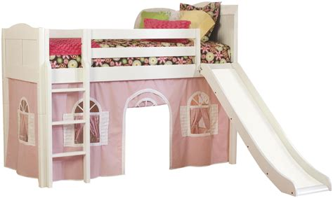 kid bed with slide white painted mahogany wood kid beds with wooden slide