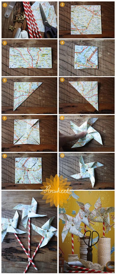 diy ways to craft with old maps listing more