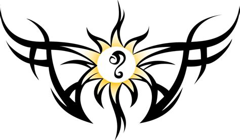 sun sign tattoo designs tribal and sun with leo sign design tattooshunt