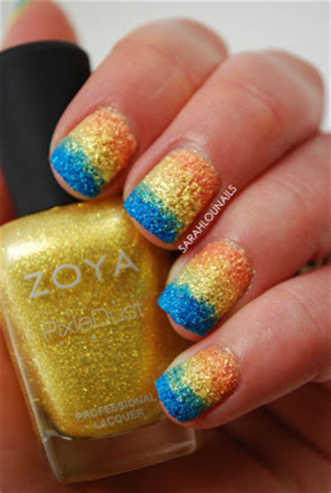 cape cod nails lou nails zoya pixie dust gradient nails