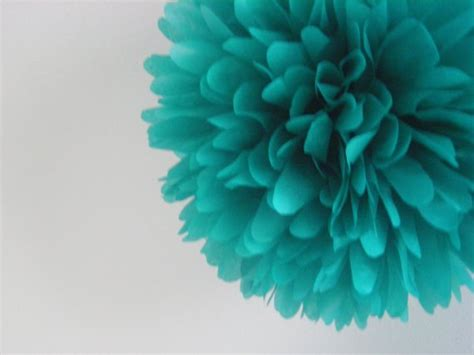 teal 1 tissue paper pom pom wedding decorations