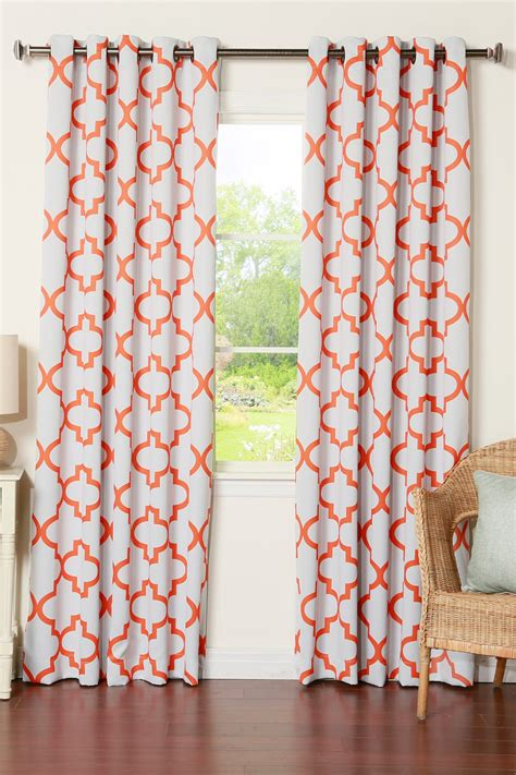 orange curtains for sale best home fashion inc orange reverse moroccan tile