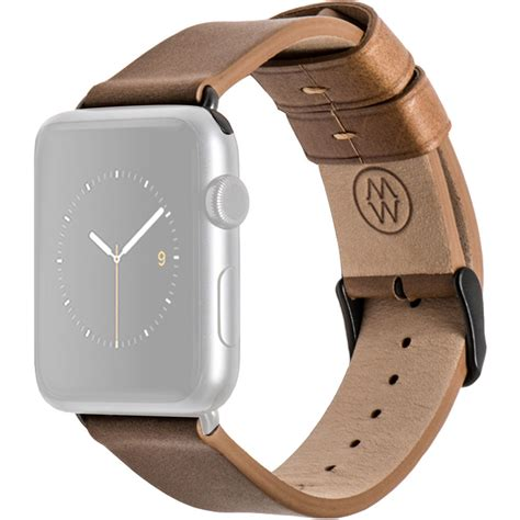 Monochrome Leather Band For Apple 38mm 10 monowear brown leather band for 38mm apple mwltbr20mtdg