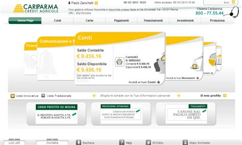 cariparma nowbanking privati now banking cariparma e piccole imprese emutuo it