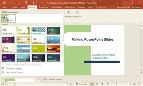 microsoft powerpoint design templates how to change templates in powerpoint 2016