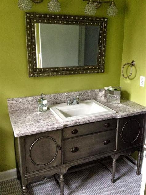 buffet bathroom vanity julie peterson simple redesign buffet turned bathroom