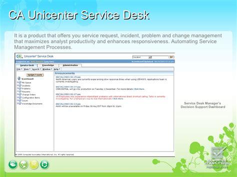 ca service desk ca service desk presentation