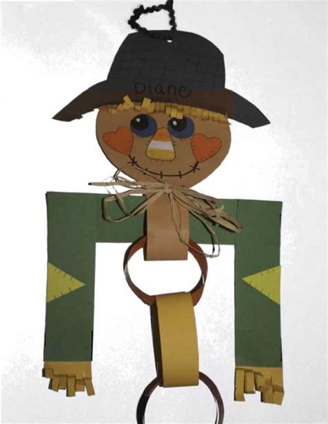 Scarecrow Paper Craft - scarecrow paper chain craft put enough links on for the