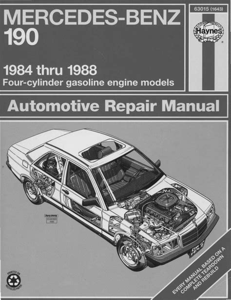 car service manuals pdf 1988 mercedes benz e class engine control mercedes benz 190e owners manual pdf