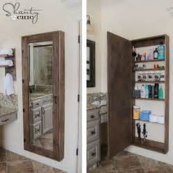 diy bathroom mirror storage bathroom storage