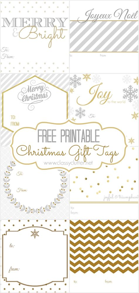 free printable elegant christmas gift tags free christmas gift tags 8 printable designs classy