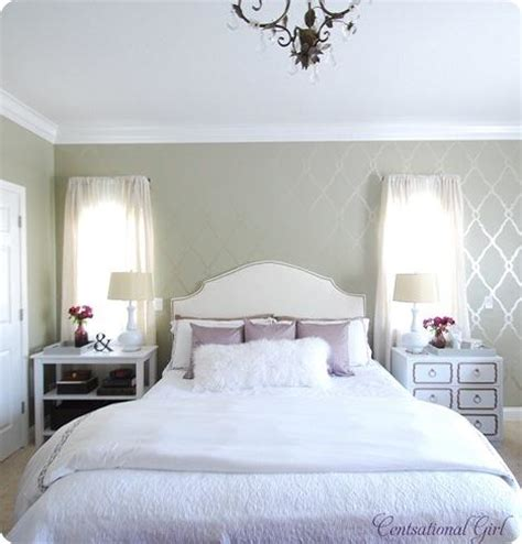 light purple and grey bedroom colors light grey walls cream headboard white and