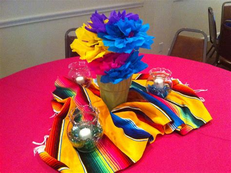 pin mexican table decorations cake on