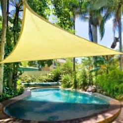 Bamboo Sun Shades Patio Durable Pe Fabric Triangle Outdoor Sun Shade Sail Desert