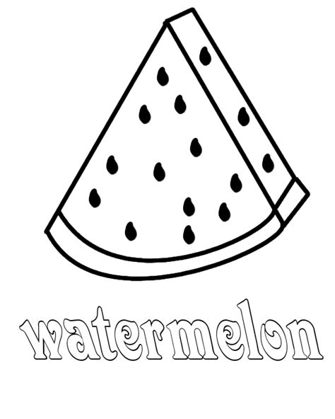W Is For Watermelon Coloring Pages Watermelon Coloring Page