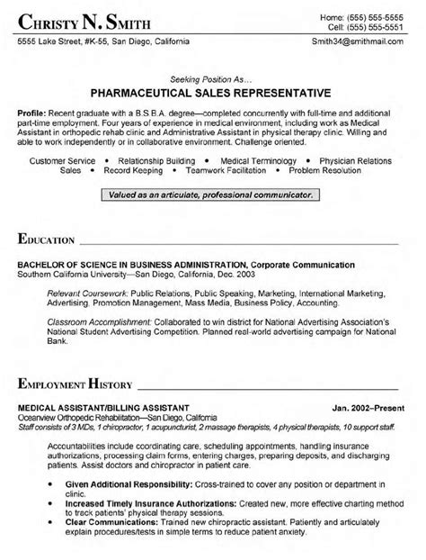 sales representative resume sle resume writing service resumewordtemplate org