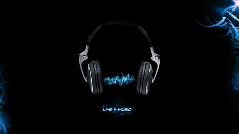 wallpaper black dj music backgrounds headphones music black background