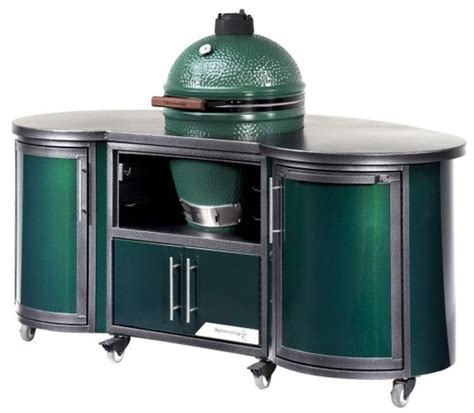 backyard chef custom cooking island for big green egg