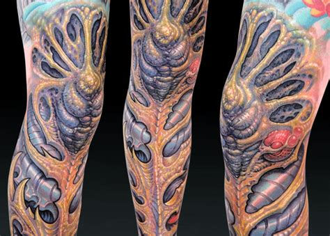 biology tattoos 10 expert biomechanical artists scene360