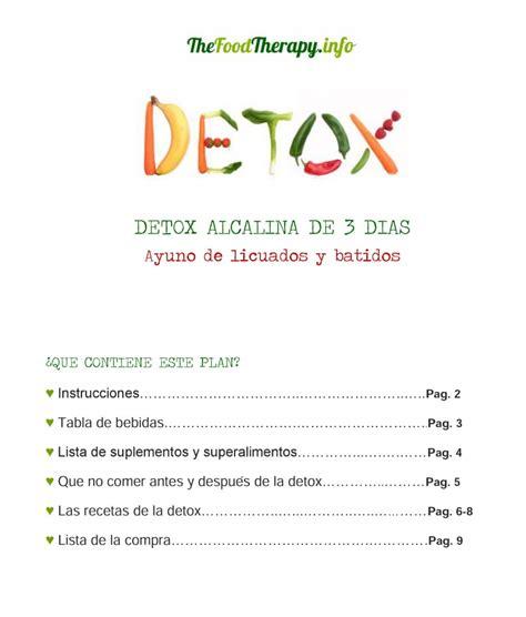 Detox Liquido 3 Dias by Detox Alcalina De 3 D 237 As Ayuno De L 237 Quidos The Food
