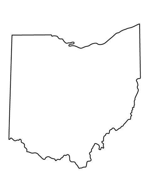 printable state shapes ohio pattern use the printable outline for crafts