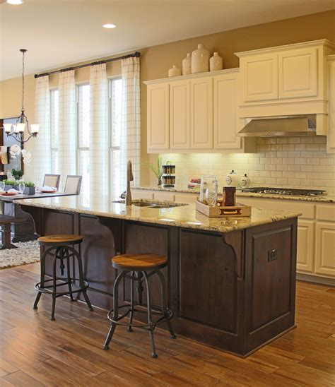 kitchen island corbels should cabinets match throughout house burrows cabinets