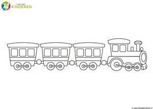 kleurplaat trein de leukste treinen kleurplaten voor