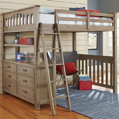 bunk bed lofts reclaimed grayson loft bed rosenberryrooms com