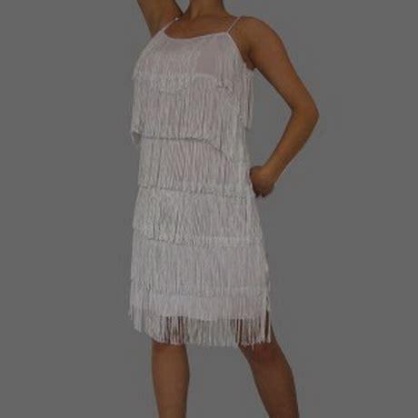 Robe De Soirée Charleston Blanche - robe charleston blanche