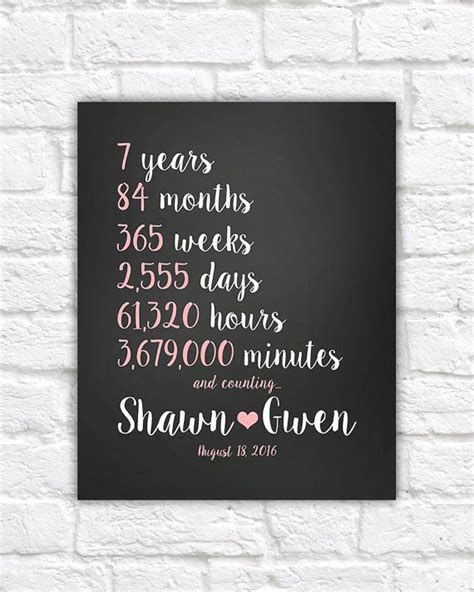 Wedding Anniversary Year 7 by Best 25 7 Year Anniversary Ideas On