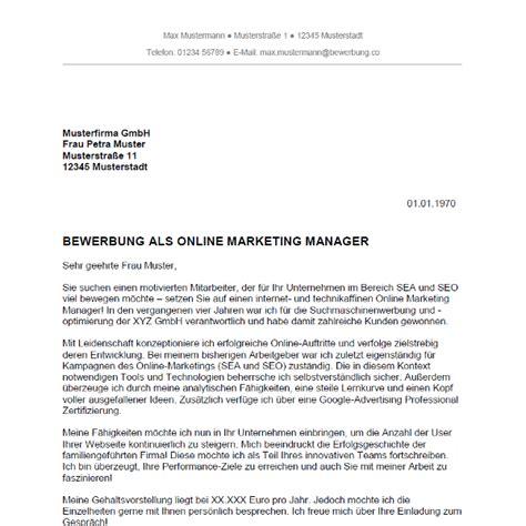 Anschreiben Bewerbung Projektleiter Bewerbung Als Marketing Manager Marketing Managerin Bewerbung Co