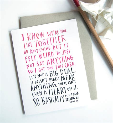 valentines day card for new relationship awkward dating card by emily mcdowell i we re