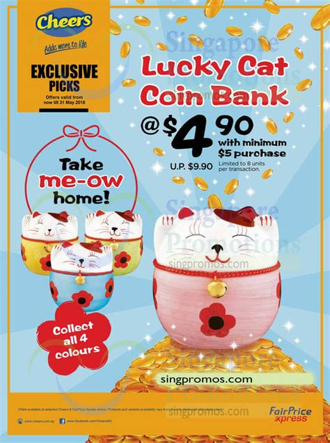 Cat Coin Bank Celengan Last Stock lucky cat coin bank now available in four colours at cheers fairprice xpress till 31 may 2018