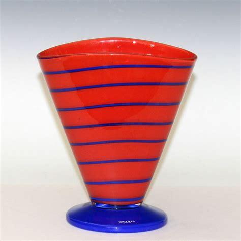 kosta vase vintage kosta boda ehrner blue swirl on swedish