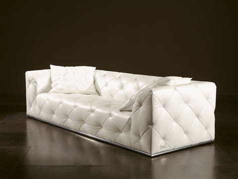 Sofa Chairs by Nella Vetrina Rugiano Diamante 6070 Upholstered Sofa In White
