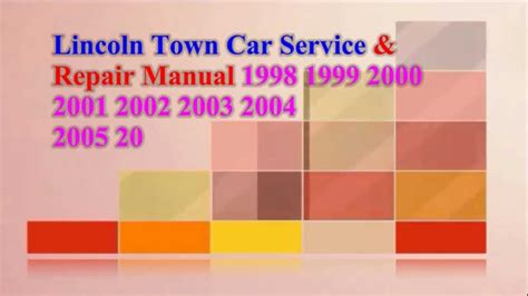 service manual how to fix 2009 lincoln town car engine rpm going up and down service manual lincoln town car service repair manual 2009 2008 2007 2007 2006 2000 youtube