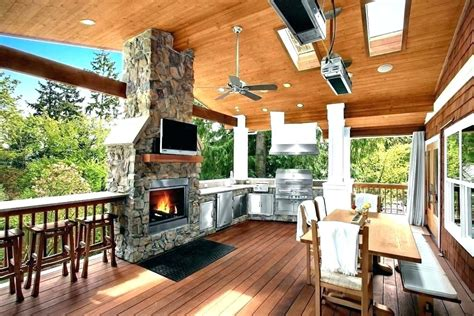 fireplace covered outdoor patio fire pit gas  deck