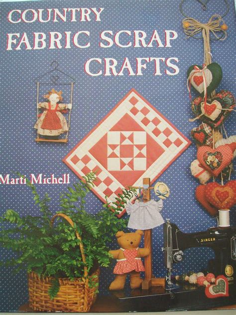 fabric crafts country 1990 country fabric scrap crafts quilt pattern book