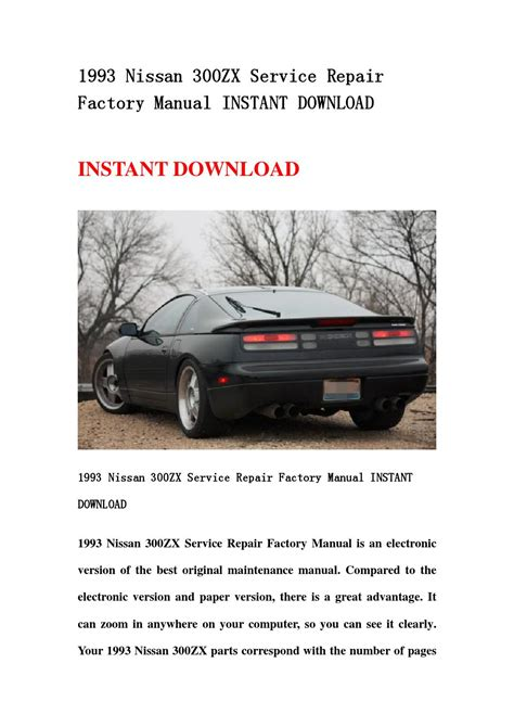 online auto repair manual 1995 nissan 300zx spare parts catalogs 300zx factory service manual pdf kipbacke