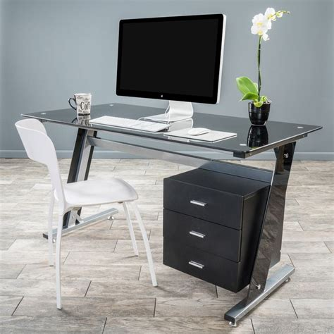 Black Glass Computer Desks For Home Black Glass Computer Desks For Home Best 25 Black Glass Computer Desk Ideas On Pinterest Pc