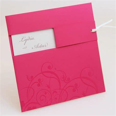 Einladung Hochzeit Pink by Hochzeitseinladung In Pink Mit Fensterausstanzung