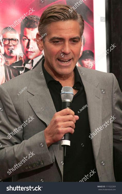 George Clooney Says Oceans Thirteen Will Be The Last by George Clooney Oceans Thirteen Handprint Footprint Stock