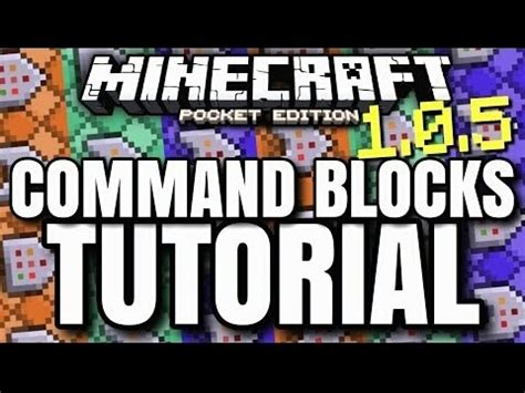 command pattern youtube minecraftpe 1 0 5 beta command block tutorial completo
