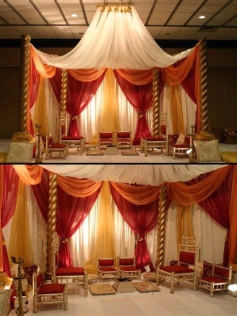 Mandap decor   Wedding Ideas!   Pinterest   Red gold
