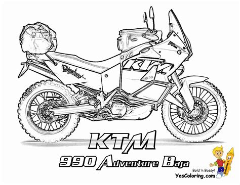 Ktm Motorcycle Coloring Pages | ktm colouring pages