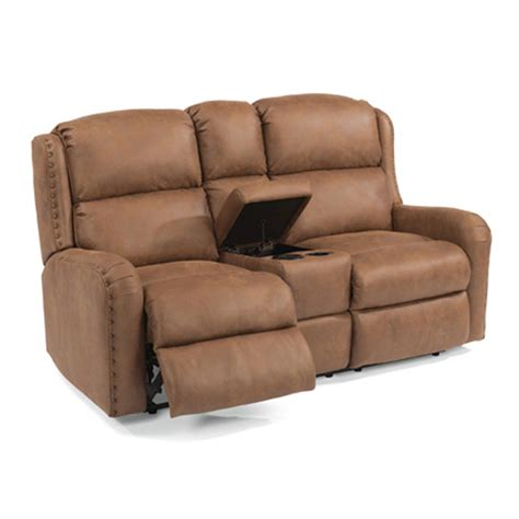 Reclining Seat With Console by Flexsteel 4892 601m Cameron Fabric Power Reclining