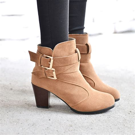 High Heels Boot Zed high heel ankle boots winter martin snow boots fashion footwear warm heels boot