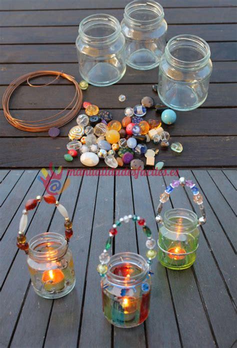 candelabros hechos con material reciclable portavelas con vidrio reciclado vidrios reciclados